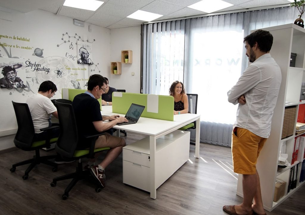 Working space of algri coworking barcelona, near Sagrada Famila and the city center in the eixample.