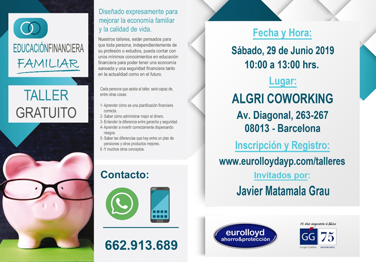 Free educational workshop at algri coworking barcelona in the eixample, near the city cener and Sagrada Familia